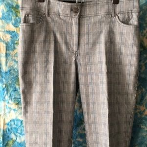 89th &Madison gray plaid dress/jeans. Tapered 14